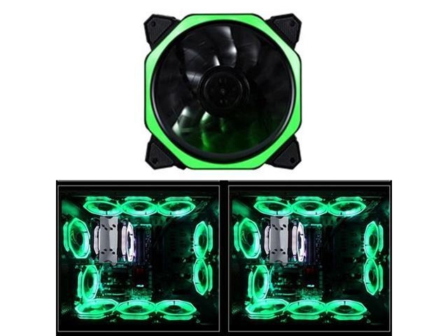 9-Blade 4 Pin 120mm PC Computer Clear Case Quad 4-LED Light CPU Cooling Fan New