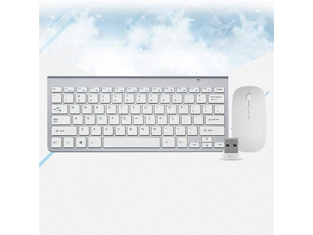 Smooth Body 2.4GHz Wireless Keyboard and Mouse Combo 102 Keys Low-Noise Wireless Keyboard Mouse for Mac Pc WindowsXP//7//10 Tv B