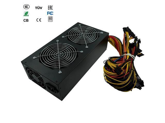 free ship 1800w psu ATX power supplies for mining asic bitcoin miner pc  power switch ethereum mining pico psu rig 110V antminer - Newegg com