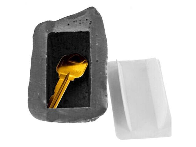 Creative Outdoor Spare House Safe Hidden Security Rock Stone Case for Key Hide,