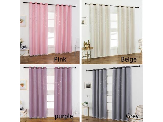 Window Curtains Blinds Girls Bedroom Darkening Decoration 100*250cm  Accessories Pink/Beige/Gray/Purple - Newegg.com