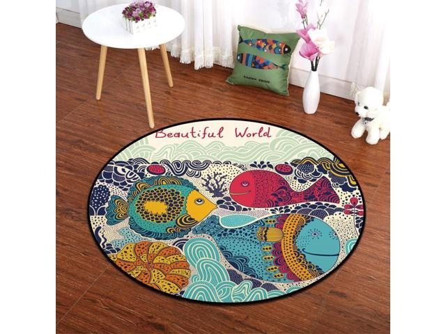 1pcs Home Decoration Rugs Round Pvc Mesh Bottom Bedroom Carpet Floor Mats Soft Comfortable Rug For Baby Climbing S006