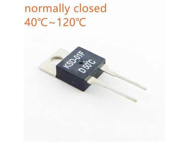 10PCS KSD-01F temperature control switch temperature sensor 40 45 50 55 60  65 70 75 80 normally closed temperature controller - Newegg com