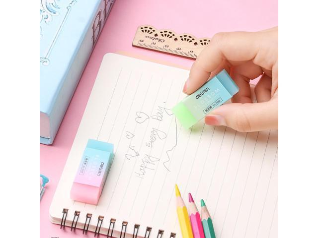 Soft Durable Flexible Cube Translucent Pencil Rubber Erasers For School Kids One