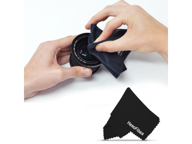 Lenses Gems and All Other Delicate Items Tablets Smart Phones Black HeroFiber Ultra Gentle Cleaning Cloth for Cameras