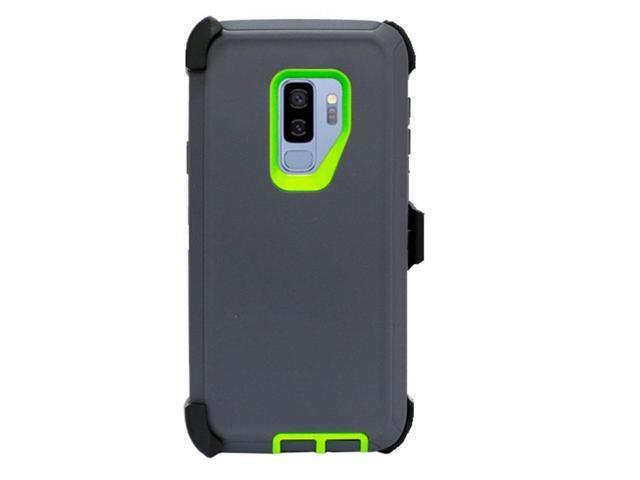 save off e22f6 e500e For Samsung Galaxy S9 Plus Case(Belt Clip Fits Otterbox Defender) Gray  Green - Newegg.com