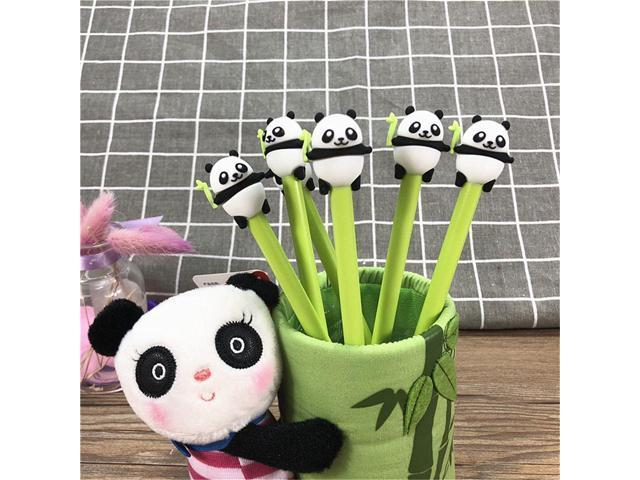 ecc25172df2c92 3pcs Kawaii 0.5mm Black Ink Signature Pens Cartoon Panda Gel Pens Creative  Stationery School Office
