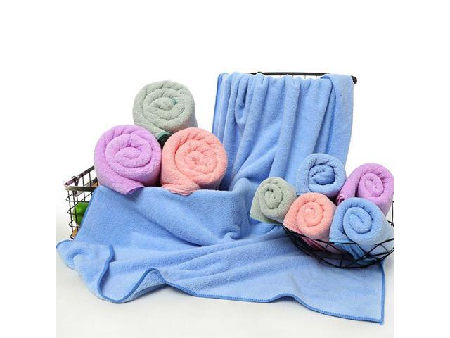 2 Pcs 35*75cm/70*140cm Unisex Bath Towel Set Adults ...