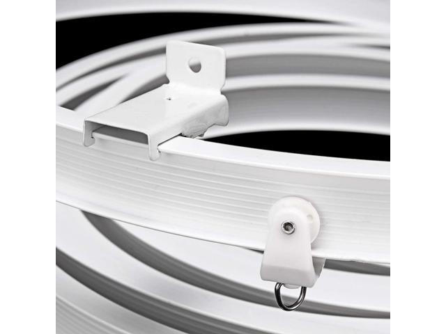 4M Flexible Ceiling Mounted Curtain Track Rail For Straight Slide Window Balcony