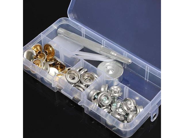15Set 10MM Snap Fastener Screws Button Kit With Attaching Tool For Boat  Marine Canvas - Newegg com
