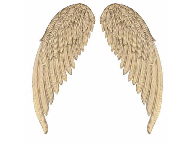 1pair Metal Angel Wings Abstract Wing Room Hanging Wall Decor Figurine Miniature Decorative Home Background Gift