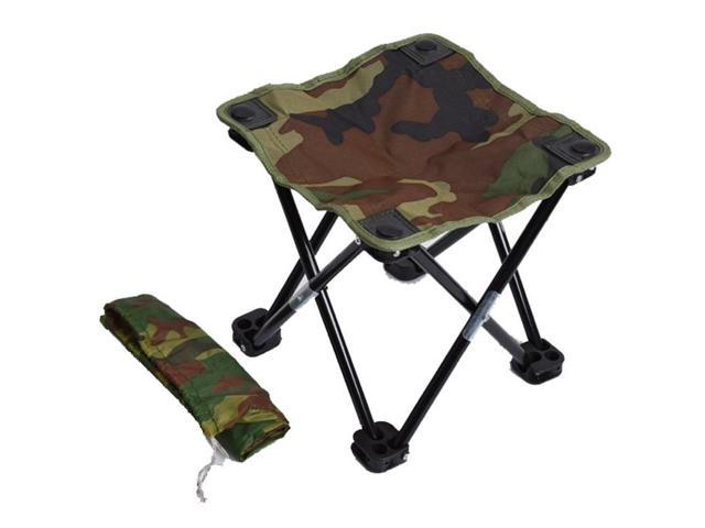 Cool Camping Hiking Beach Portable Fishing Chair Camouflage Folding Stool Recreational Fishing Gear Newegg Com Pdpeps Interior Chair Design Pdpepsorg