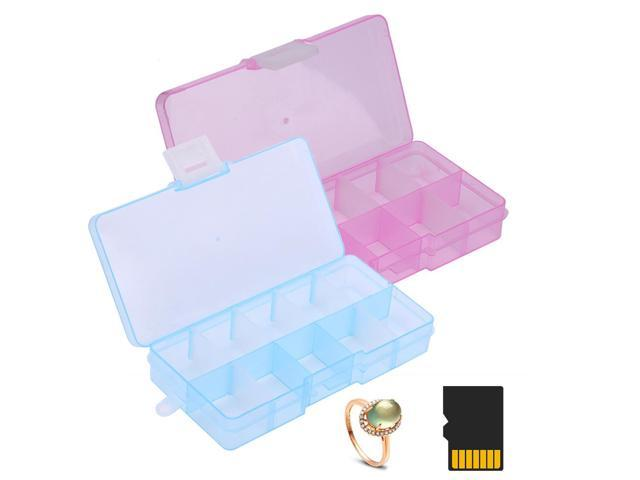 10 sets//280 Grid Clear Storage Box Bead Container Gadget Organizer Cases