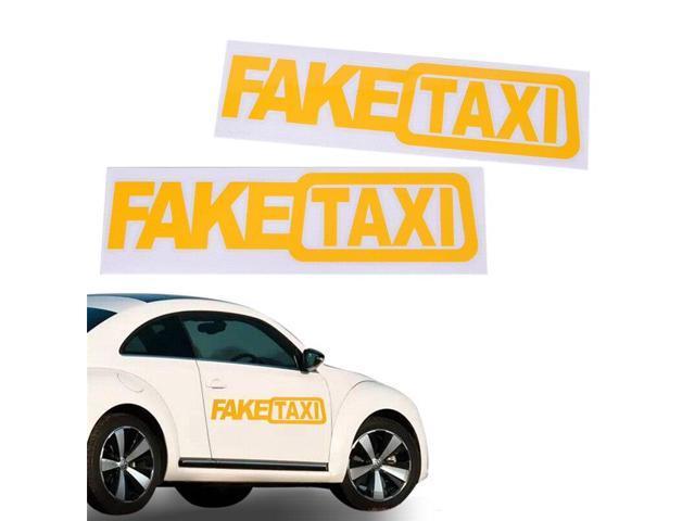 Car Sticker FAKE TAXI JDM Drift Turbo Race Auto Funny Vinyl Decal Sticker  21CM(Length)*6 CM(Width) - Newegg com