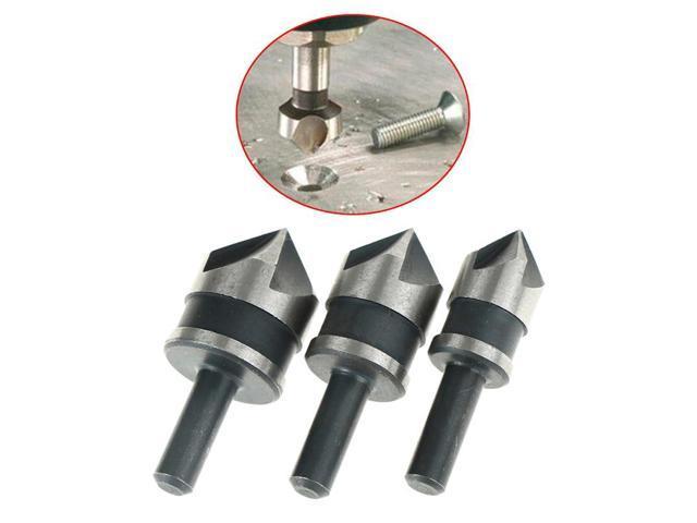 3pcs Countersink Drill Bit Set 90 Degree Chamfering Cutter Wood Metal vgb