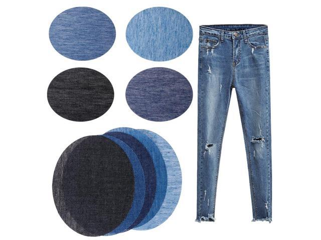 Iron-on Elbow Knee Repair Denim Jeans Patches DIY Sewing Applique Blue