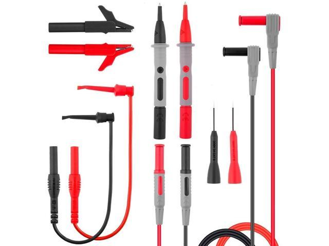 New 16pcs//Set PVC Multimeter Test Leads Kit Test Leads Connector Replace Parts