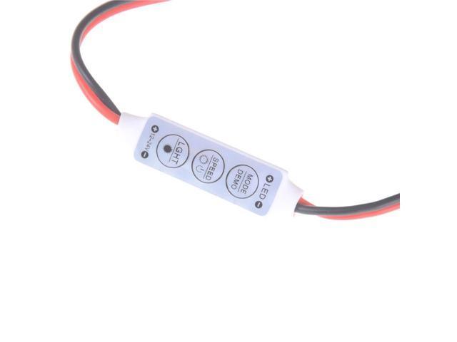 LED Strip Controler DC12-24V Mini Keys Single Color LED Strip Controller -  Newegg com