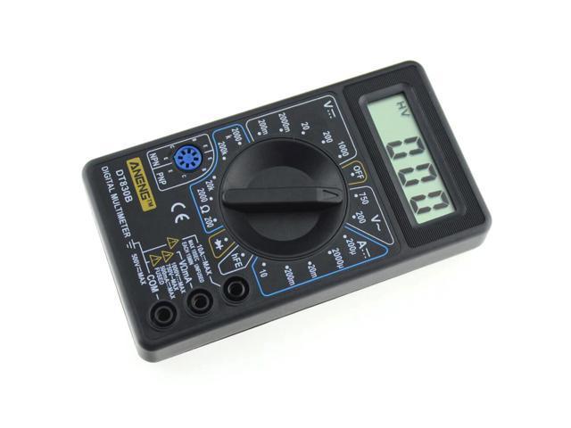 DT-830B Digital LCD Multimeter AC//DC 750//1000V Amp Volt Ohm Tester Meter  Blue