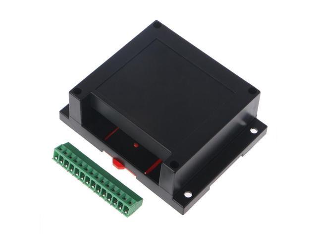 PLC Control Box Plastic Shell Electronic Project Case DIY Terminal Block a