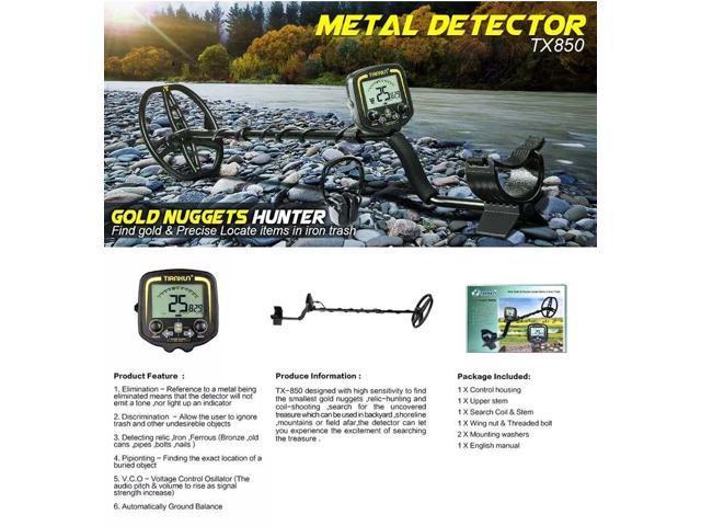 TX-850 Metal Detector LCD & Sound Mode Gold Digger Finder Treasure Hunters  Detecting Equipment Undergrounds Depth 2 5m - Newegg com