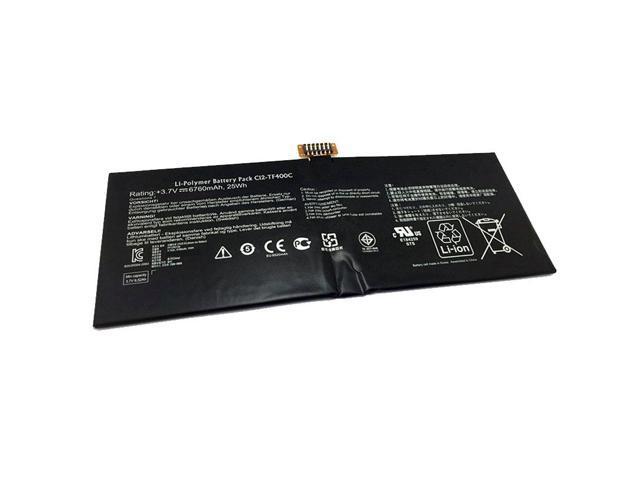 25Wh 6760mAh 3 7V C12-TF400C Laptop Battery For Asus VivoTab Smart ME400C  Tablet 1ICP4/83/103-2 - Newegg com