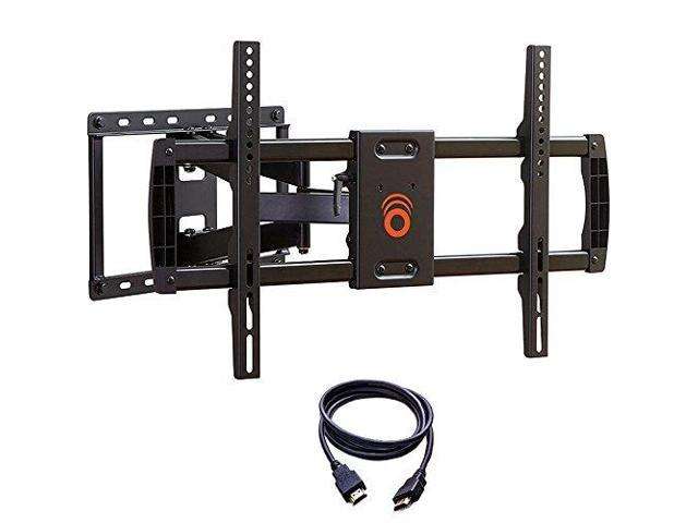 ECHOGEAR Full Motion Articulating TV Wall Mount Bracket for TVs Up to 78  Smooth Extention Swivel Tilt Wall Template for Easy Install Centers amp