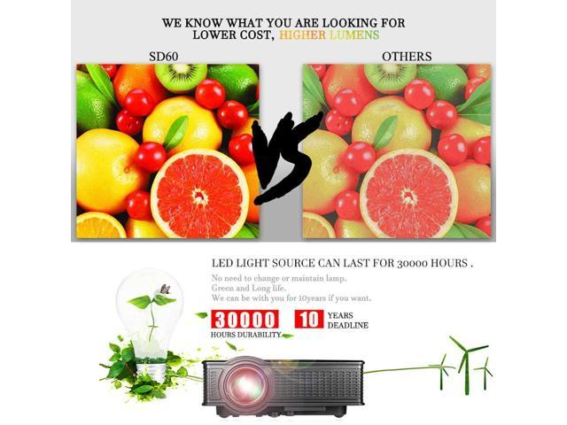 HD HOME THEATER MULTIMEDIA USB/HDMI/AV/VGA LED PROJECTOR - Newegg com