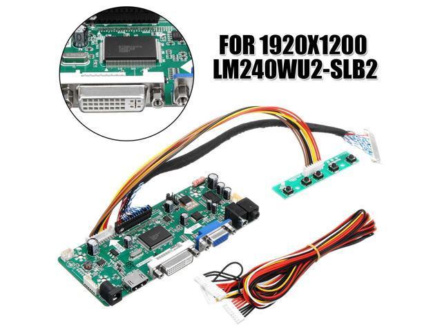 LCD Controller Board HDMI DVI VGA Audio PC DIY Driver Board Converter Kit  For 24 inch Display 1920x1200 LM240WU2-SLB2 - Newegg com