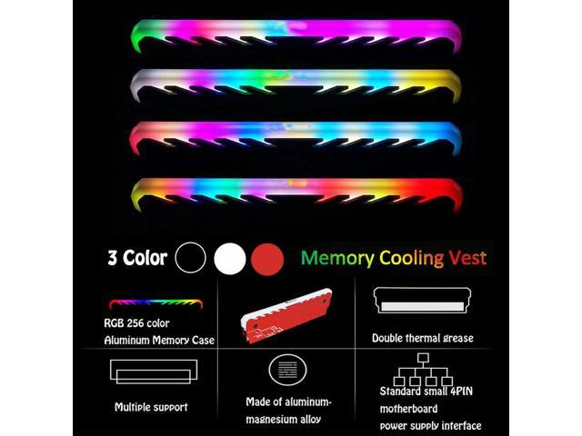 Memory RAM Cooler Sink Cooling Fin Radiation Dissipate for DIY PC Game