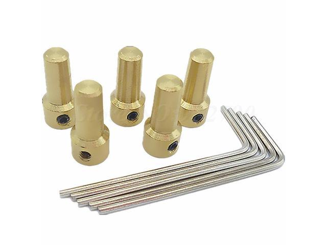 Brass 3.17mm Electric Drill Chuck JT0 Coupling Motor Shaft Coupler Clamp vb