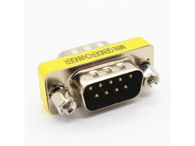 Mini DB9 RS232 9 Pin Female to Female Gender Changer Plug Adapter