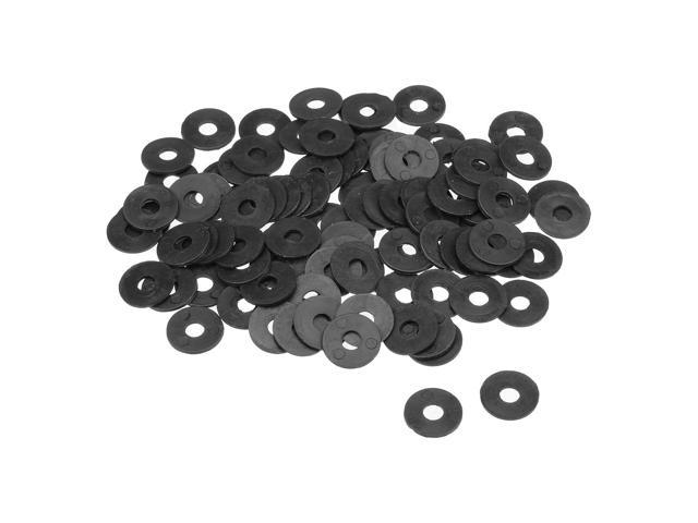Nylon Flat washers for M4 Screw Bolt 17 mm OD 1 mm Transparent Thickness 100 Pieces