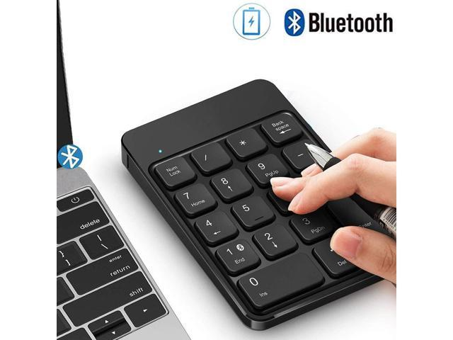 Bluetooth Number Pad, Wireless Numeric Keypad - Lekvey Rechargeable Slim  18-Key Number Keypad Keyboard Compatible for MacBook, iMac, OS, Windows,