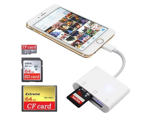 USB Flash Drive SD TF Card Reader For iPhone X 8 7 6s 6 5 S Plus iPad 4 Air Mini