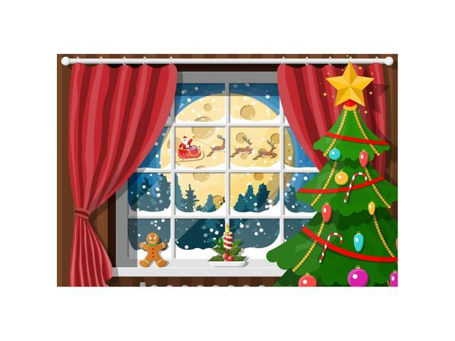 Cartoon Christmas Tree Zoom Background – Christmas tree is an essential attribute of christmas and new year.