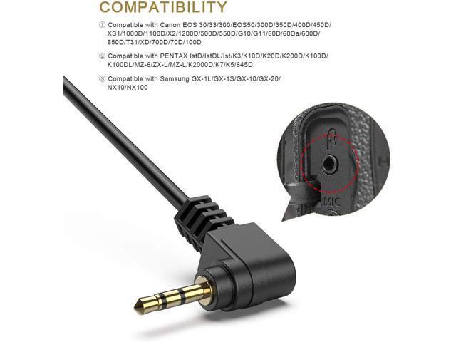 CORD REMOTE SWITCH CABLE RS-60E3 COMPATIBILE CON CANON EOS 1000D 650D 600D