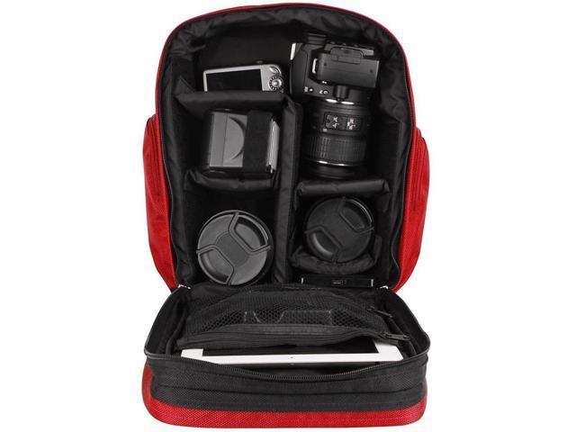 Dark Green DSLR Camera Case SLR Bag with Soft Liner Zippered Accessory Storage for Kodak WP1 AZ651 FZ201 SP1 SPZ1 S 1 SP360