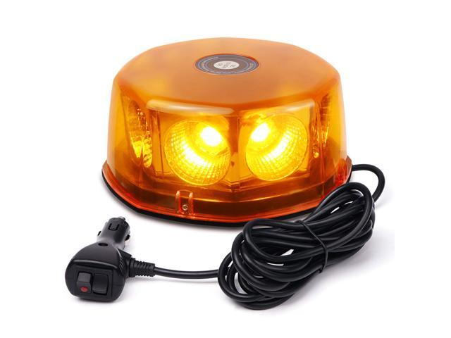 24 LED Amber Magnetic Emergency Bar Recovery Warning Strobe Light Beacon 12//24V