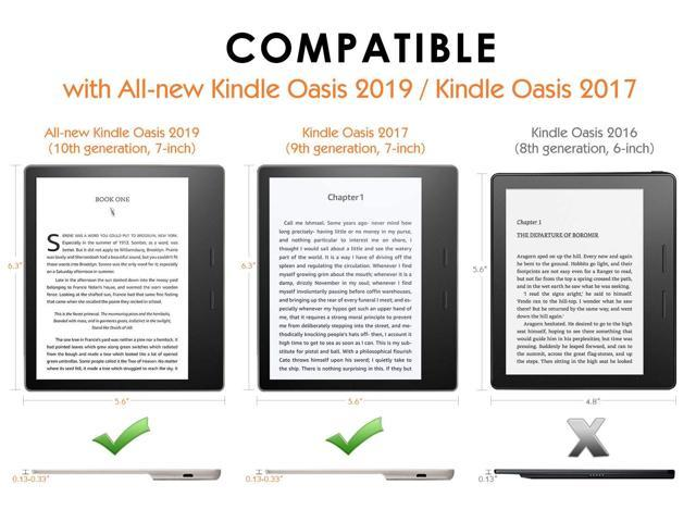 Werleo Case For All-New Kindle Oasis - 9th and 10th Generation ONLY 2017  and 2019 Release - Premium Ultra Lightweight Shell Cover with Auto Wake /