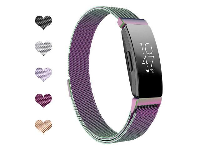 Werleo Bands Compatible with Fitbit Inspire HR Bands Fitbit Inspire Band,Inspire hr Metal Stainless Steel Magnetic Men Women Replacement Bands for