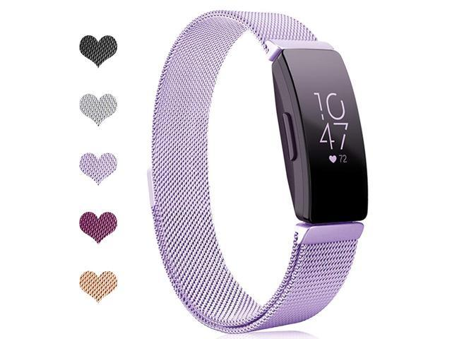 Werleo Bands Compatible with Fitbit Inspire HR Bands / Fitbit Inspire  Band,Inspire hr Metal Stainless Steel Magnetic Men Women Replacement Bands  for