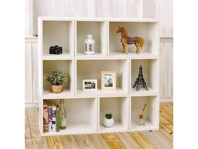Way Basics 46 4 H X 49 6 W Oxford Modular Eco Storage Shelf Modern Bookcase White Lifetime Guarantee Newegg Com