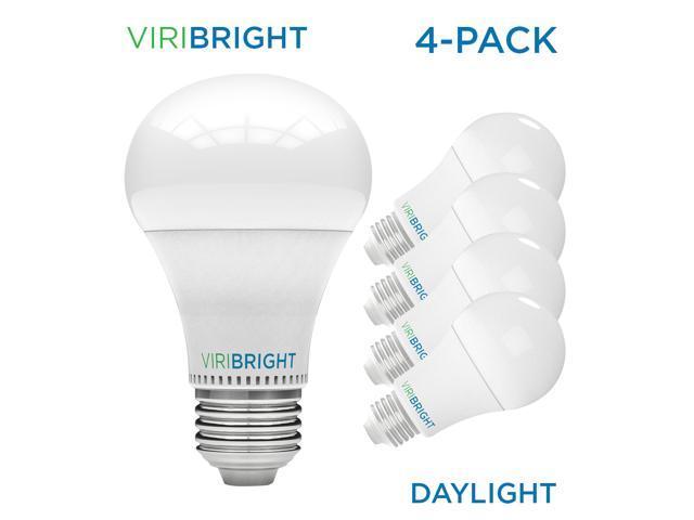 Viribright 13w 100 Watt Equivalent Led Light Bulbs Daylight 6500k General Purpose A19 Led Bulbs W E26 Medium Base 1400 Lumens Ul Listed Pack