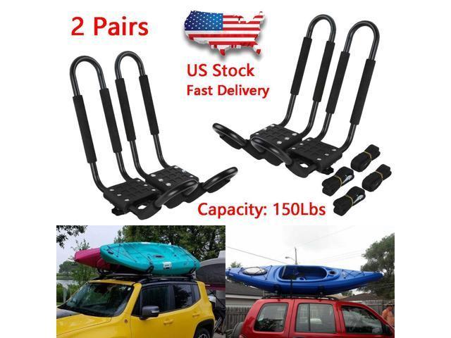 2 Pairs Universal Roof J-Bar Rack Kayak Boat Canoe Car SUV Top Mount  Carrier New - Newegg com