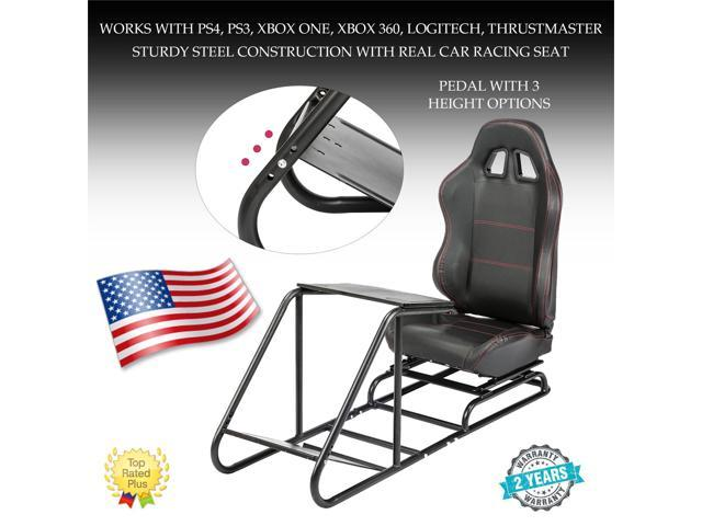 Racing Simulator Steering Wheel Stand for Cockpit Seat Gaming Chair -  Newegg com