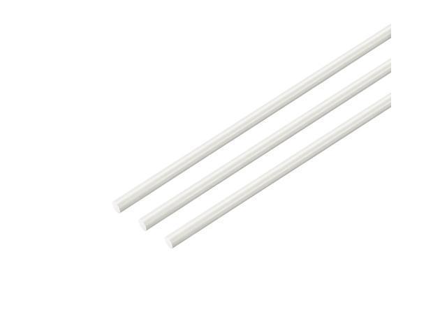 FRP Fiberglass Round Rod 1.5mm Dia 50cm Length White Engineering Round Bar 5pcs