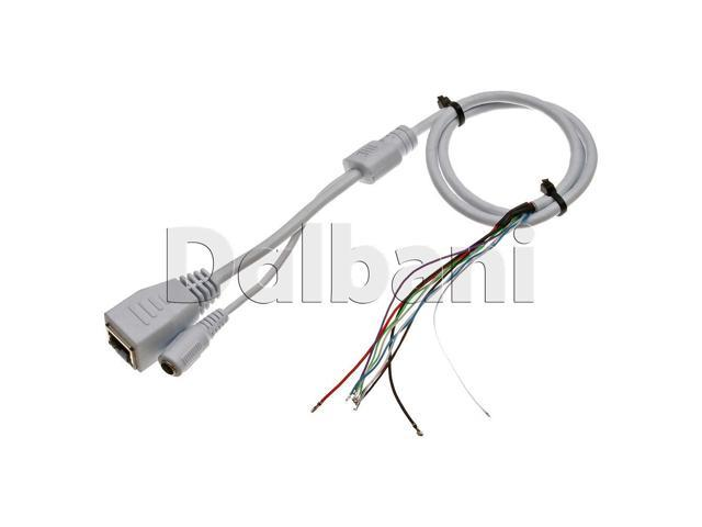 Dc Power Female Connector Rj45 Ethernet Cable For Security