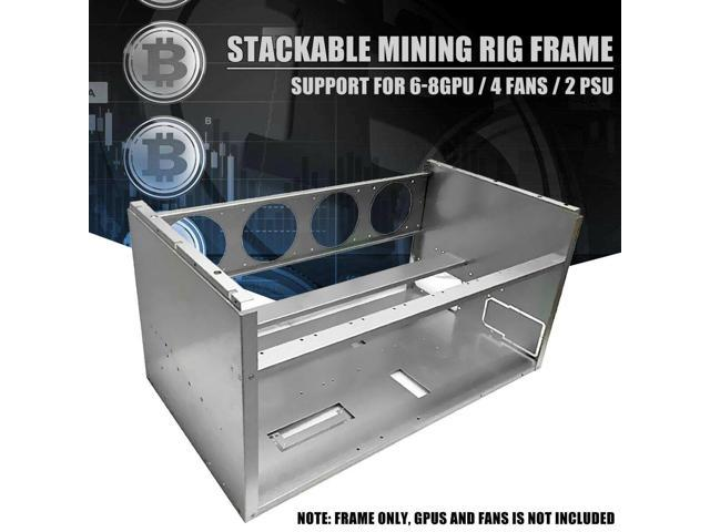 Open Air Frame Mining Miner Rig Case Stackable For 6 8 GPU ETH BTC Ethereum