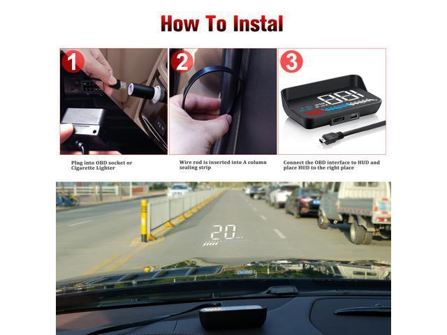 Car HUD Display iKiKin HUD Head Up Display OBD2 GPS Dual USB Interface for All Cars